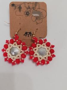 Orecchini rossi artigianali | vendita on-line bigiotteria