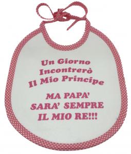 Bavaglini con scritte simpatiche bimbo bimba Made in Italy