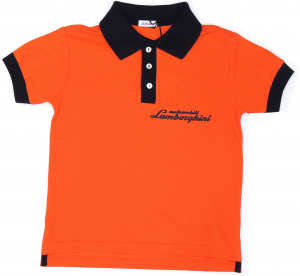 Lamborghini Boys Bi-Colour Gallardo Sketch Polo Orange