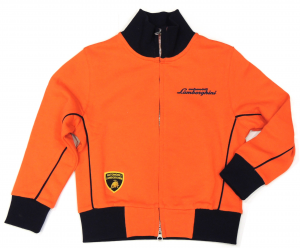 Lamborghini Boys Bi-Colour Gallardo Sketch Zip UP  Orange