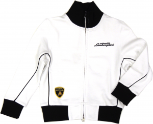 Lamborghini Bi-Colour Gallardo Sketch Zip UP White-Black
