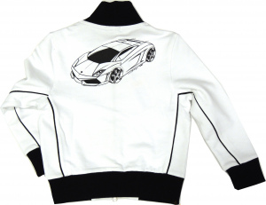 Lamborghini Bi-Colour Gallardo Sketch Zip UP White-Black