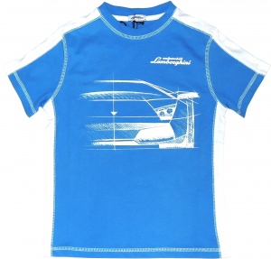 Lamborghini Boys Bi-colour Murcielago Sketch T-shirt