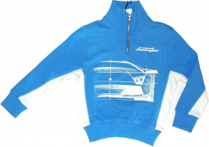 Lamborghini Boys Bi Colour Murcielago Sketch Zip UP