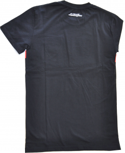 Lamborghini Men Tricolore SS T-Shirt Navy