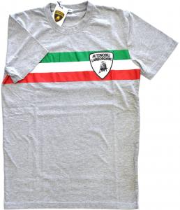 Lamborghini Men Tricolore SS T-shirt Grey Melange