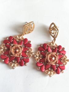 Boucles d'oreilles cérémonie rose gold | bijoux fantaisie Made in Italy
