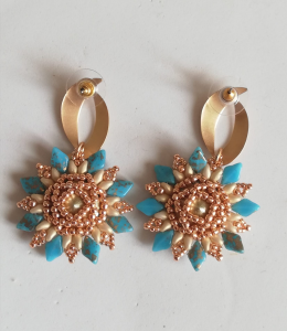Swarovski and Zama earrings | Handcrafted Made in Italy jewellery