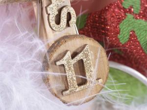 Calendario dell'Avvento con secchiello e peluche
