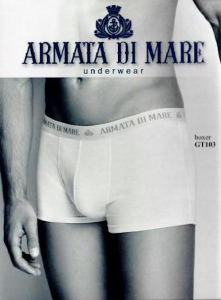 6 Boxer uomo in cotone elasticizzato con scritta ARMATA DI MARE