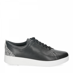 Fitflop Rally glitter sneaker all black mix-2