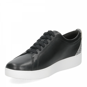 Fitflop Rally glitter sneaker all black mix-4