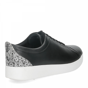 Fitflop Rally glitter sneaker all black mix-5