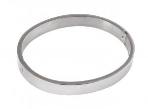 Bracciale ovale in acciao cm.5,7x6,7x0,8h