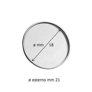 Spilla rotonda con incavo cm.2,1x2,1x0,2h diam.2,1