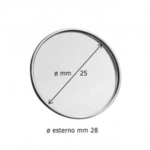Spilla rotonda con incavo cm.0,2h diam.2,8