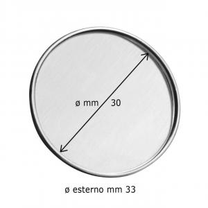 Spilla rotonda con incavo cm.3x3x0,2h diam.3