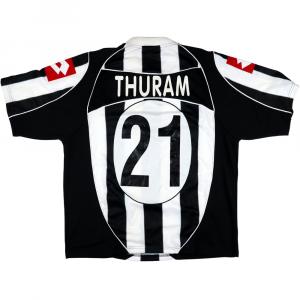 2002-03 Juventus Maglia Match Worn/Issue #21 Thuram L (Top)