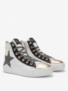 SHOPPING ON LINE NIRA RUBENS SNEAKERS LONG ISLAND STELLA GLITTER GOLD LEO NEW COLLECTION WOMEN'S FALL WINTER 2020/2021