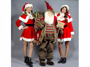Babbo Natale gigante alto 190 cm con scritta Buon Natale