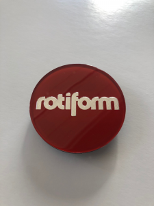CAP Rotiform - lente originale Rotiform Candy Red/Silver
