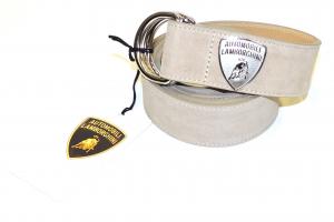 Lamborghini Shield Belt Suede Sand