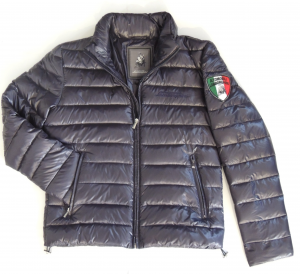 Lamborghini Men Lightweight Puff Jacket Navy