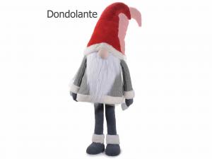 Babbo Natale dondolante in stoffa e finto pelo alto 158 cm
