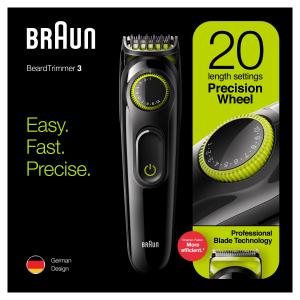 Braun BT3221 Regolabarba Uomo E Tagliacapelli Con 20 Impostazioni Di Lunghezza