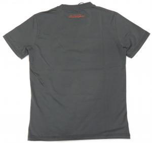 Lamborghini Men Taped Shield Short Sleeve T-shirt Grey