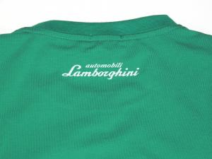 Lamborghini Men Taped Shield Short Sleeve T-shirt Electric Green