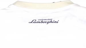 Lamborghini Men Taped Shield Short Sleeve T-shirt White