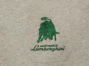 Lamborghini Men Reduced Bull Short Sleeve T-shirt Grey/Green