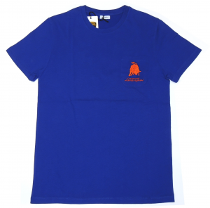 Lamborghini Men Reduced Bull Short Sleeve T-Shirt Royal Blue/ Orange