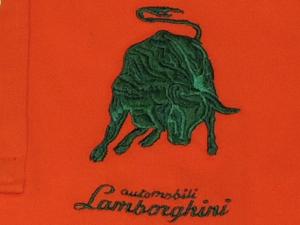 Lamborghini Mens BullLXIII Long Sleeve Piquet Polo