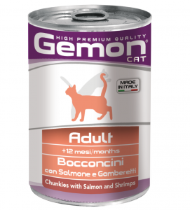 Gemon Cat - Bocconi - 415g x 24 lattine