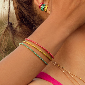Bracciale Rigido - Jungle Tribe - Rosa
