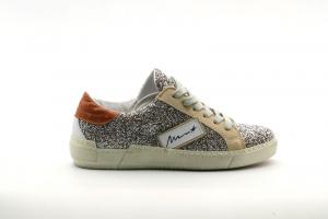 @GO Calzatura Donna Sneakers NK5051/SML VarA1390 Glit.Fiesta Argento SA/California Nettarino/Struzzo Cuoio