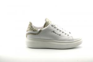 @GO Calzatura Donna Sneakers Galaxy Bianco/Glit.Fine Plat./Glit.53 Oro/Bia-Plat NO1606 Var676