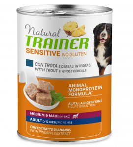 Trainer Natural Sensitive - Medium/Maxi - 400g x 24 lattine