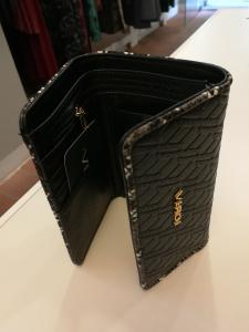 Black leatherette wallet | Women's wallets online