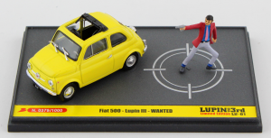 Fiat 500F Lupen III Wanted + Figurine 1/43 Brumm 100% Made In Italy