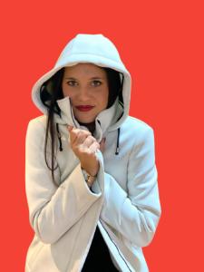 Giaccone bianco in neoprene - Ero Jacket