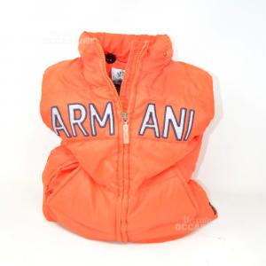Gilet Bambino Arancione Armani Junior Anni 5 Originale