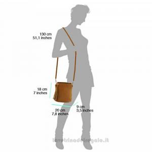 Borsa Grigia a Tracolla in pelle - Cindy - Pelletteria fiorentina