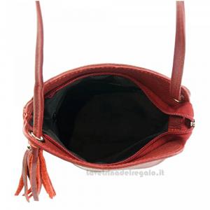 Borsa Rosso Scuro a Tracolla in pelle - Cindy - Pelletteria fiorentina