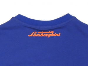 Lamborghini Boys Taped Short Sleeve T-shirt Royal Blue/Orange
