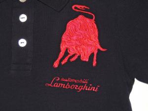 Lamborghini Boys Shortsleeved Bull LXIII Polo Blue Navy/ Red