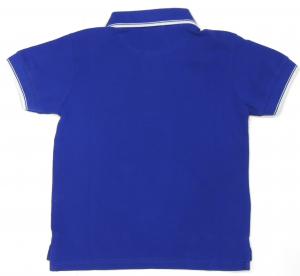 Lamborghini Boys Short Sleeve Soft Tipping Piquet Polo Blue