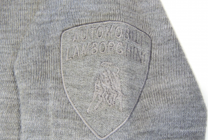 Lamborghini Basic Military Jersey Vee Neck Excalibur Grey